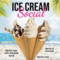 ice cream, ice cream social, Summer Pos Instagram template