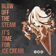Ice Cream, Summer Treat Pos Instagram template