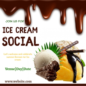 ice cream ,event,summer Instagram na Post template