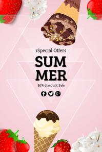 ice cream 2 Banner 4' × 6' template