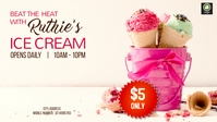 Ice cream Ad Facebook Cover Video (16:9) template