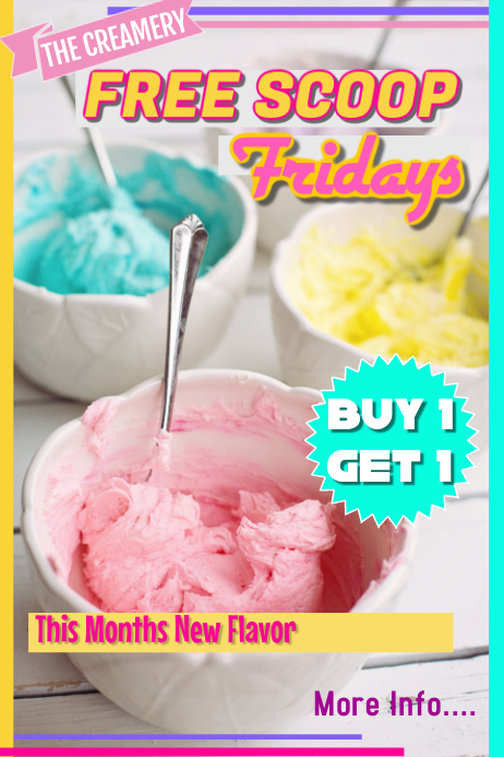 Ice Cream Ad Poster