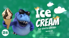 ice cream advertising for kids editable ad Affichage numérique (16:9) template