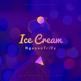 Ice Cream CD Cover Template