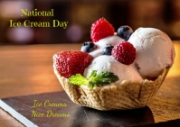 ice cream day Postcard template