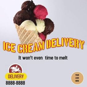 Ice cream Delivery Instagram Post template