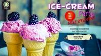 Ice cream Delivery Digitalt display (16:9) template