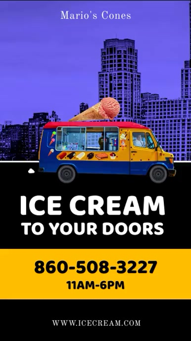 Ice Cream Delivery Instagram post video template