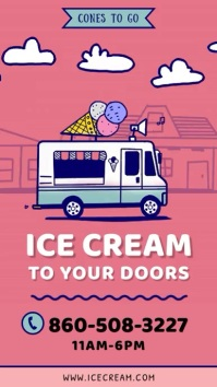 Ice Cream Delivery Instagram story video template