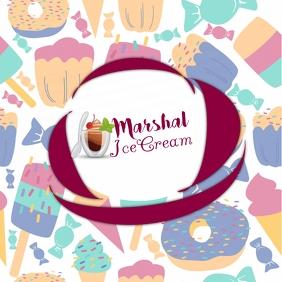 ice cream Logotipo template