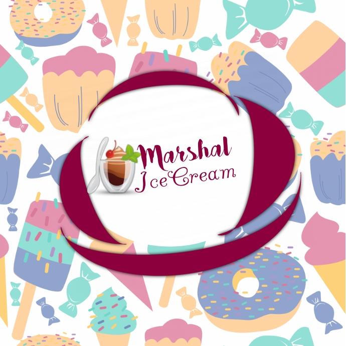 ice cream Logo template