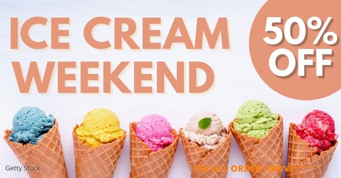 ice cream Facebook Ad template