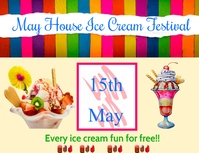 ice cream Flyer (US-Letter) template