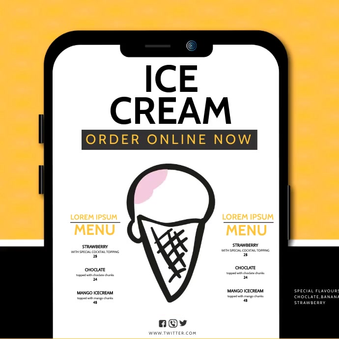 ice cream Instagram-Beitrag template