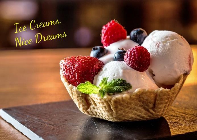 ice cream Kartu Pos template