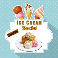 Ice Cream Publicación de Instagram template