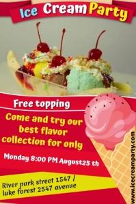 ice cream Affiche template