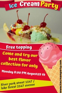 ice cream Plakat template