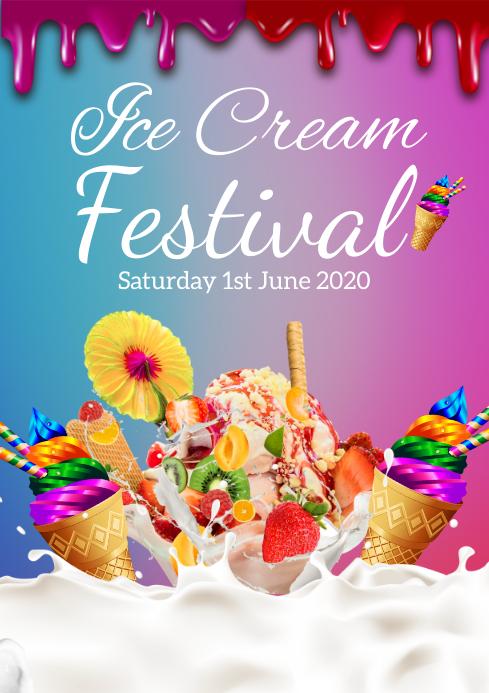 ice cream A4 template