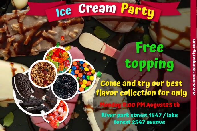 ice cream Plakat template