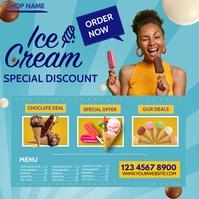 ice cream Message Instagram template