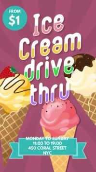 ice cream drive thru instagram facebook story template