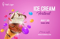 Ice Cream Festival Bannière 4' × 6' template
