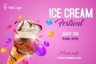 Ice Cream Festival Banner 4 x 6 fod template