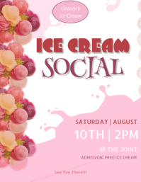 Ice Cream Flyer Volante (Carta US) template