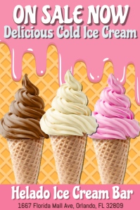 Ice Cream Flyer Poster Template