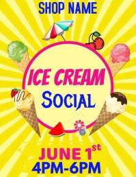 Ice cream Flyer Template 传单(美国信函)