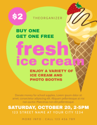 Ice Cream Fundraising Flyer Template