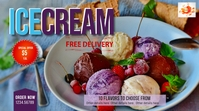 Ice cream in your home Digitale display (16:9) template