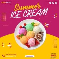 Ice Cream Instagram Vierkant (1:1) template