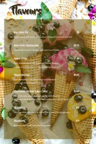 Ice cream Menu card