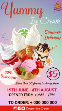 Ice cream Menu Digitalanzeige (9:16) template
