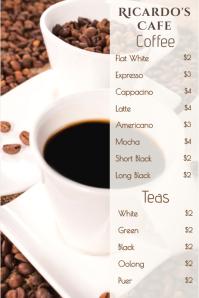 Coffee Bar Menu Template