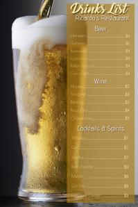 Drinks Card Menu Template