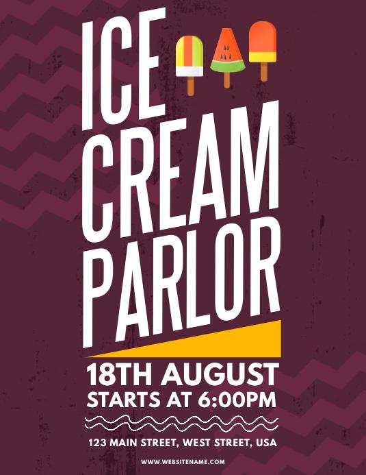 Ice Cream Parlor Flyer