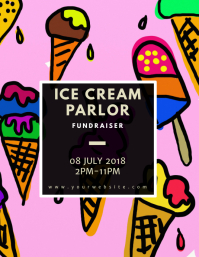 Ice Cream Parlor Flyer Template