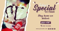 Ice Cream Parlour Facebook Shared Post Templa template