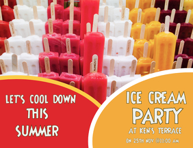 ICE CREAM PARTY, EVENT FLYER