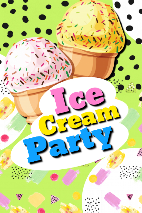 Ice Cream Party Flyer Template Postermywall