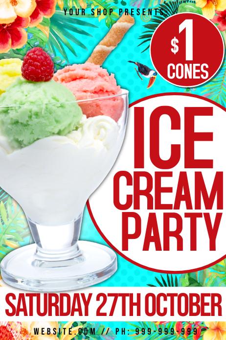 Ice Cream Party Poster