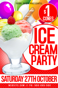 Ice Cream Party Poster