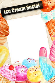 Ice Cream Party Prop Frame