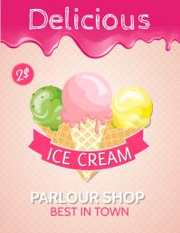 Ice cream poster, delicious ice cream