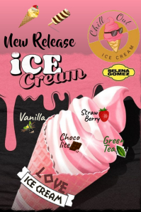 ICE CREAM POSTER Affiche template