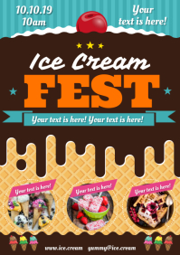 ICE CREAM POSTER A4 template