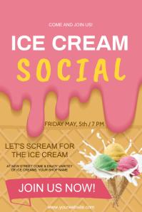 Ice cream poster Plakkaat template